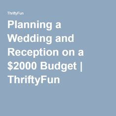 how to plan a wedding on a budget of 2000