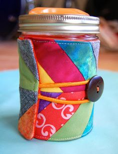 Herringbone Mason Jar Cozy {Tutorial}
