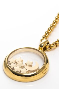 Vintage Moon and Stars Necklace