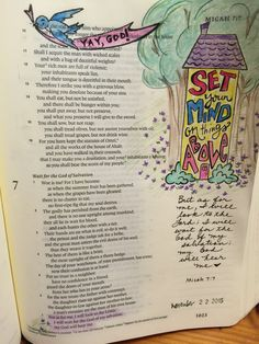 Bible art journaling by Lynda Neal - Micah 7:7 {stamps, Prismacolor colored pencils, micron pen} #illustratedfaith