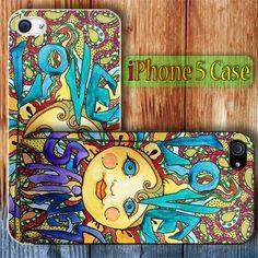 Love Shines Singleton Hippie Art Custom iPhone 5 Case Cover