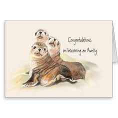Review Congratulations becoming an Aunty Humor Cute Seals Greeting Card online after you search a lot for where to buy