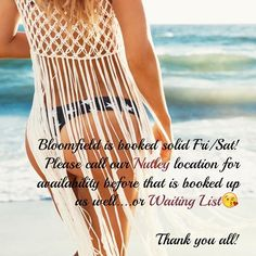 Bloomfield is booked solid Fri/Sat! Please call our Nutley location for availability before that is booked up as well....or Waiting List #thewaxden #bloomfieldnj #nutley #brazilianwax #bestof2016