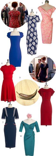 Get Joan's Style from Mad Men Season 7 via WeeBirdy.com. #Joan #MadMen #Fashion #MadMenStyle