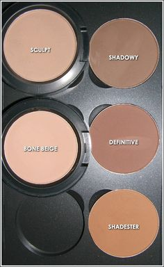 Mac Sculpting powders are an absolute must have.  I use this palette for everything-- eyeshadow, contouring, brows, bronzer, highlighter.  These pressed matte powders have a buildable color delivery, allowing you to do either super sheer glazes or dense opaque shadows.  It is my lifeline!