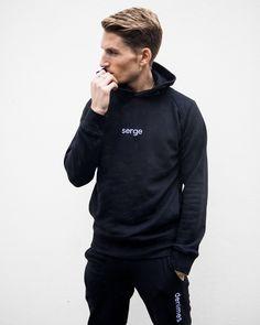Serge DeNimes Black SERGE hoody with matching Black DENIMES fitted sweatpants.