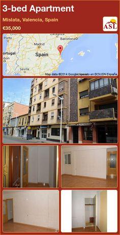 3-bed Apartment in Mislata, Valencia, Spain ►€35,000 #PropertyForSaleInSpain