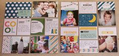 Stampin' Up! Project Life Weekly Layout