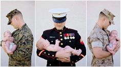 United States Marine Corps uniform baby photography newborn usmc love photoshoot military