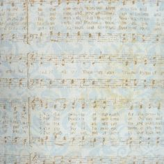 Fabric Sheet music Susan Winget Cotton 1/2 by TwoSparrowStudio