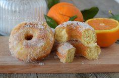 CIAMBELLE FRITTE ARANCIA E RICOTTA ricetta lievitato soffici e golose ciambelline con arancia e ricotta nell'impasto golose e profumatissime