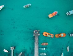 Aerial View of Boat Dock  Free Stock Photo