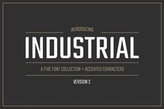 7 Best Industrial font images in 2017 | Typography letters, Graphic