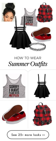"""Untitled #53"" by amberfoucha on Polyvore featuring Vans and Aéropostale"