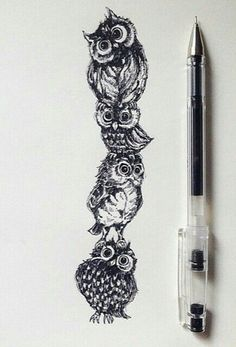 I absolutely love this!!!! ❤❤❤❤❤❤❤. Owl tattoo idea?: