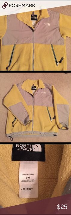 The North Face, Youth Large yellow Denali fleece Yellow, youth large. The North Face Denali fleece, used but great condition! The North Face Jackets & Coats