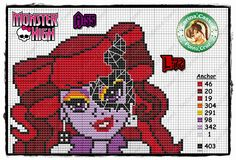 Operetta Monster High perler bead pattern by Carina Cassol - http://carinacassol.blogspot.de/