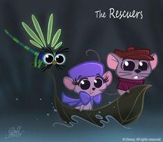 50 Chibis Disney : Rescuers by princekido.deviantart.com on @DeviantArt