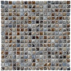 SomerTile 12x12-in Samoan 9/16-in Noce Porcelain Mosaic Tile (Pack of 10) | Overstock.com