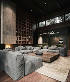 Rustic Modern House Interior Rich & Exquisite Modern Rustic Home Interior Modern House Design, Modern Interior Design, Interior Design Inspiration, Interior Architecture, Interior Ideas, Design Ideas, Loft Design, Luxury Interior, Design Interiors