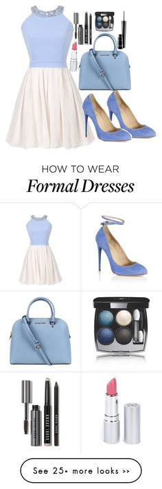 """Pastel formal"" by meganashton-1 on Polyvore featuring Aquazzura, Michael Kors, Bobbi Brown Cosmetics, Chanel, MAC Cosmetics and HoneyBee Gardens"