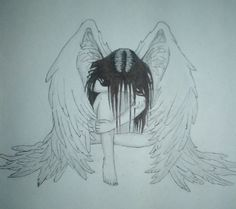 sad angel drawing - Google Search