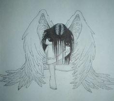 sad angel drawing - Google Search