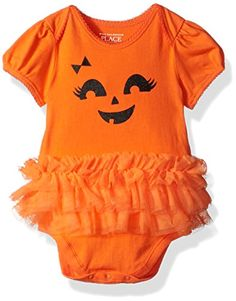 The Childrens Place Baby Girls Halloween Tutu Bodysuit Squashorg 69MONTHS *** You can find more details by visiting the image link.-It is an affiliate link to Amazon. #BabyClothing