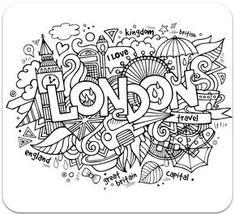 раскраски для взрослых, раскраски антистресс, країни, путешествие, сложные раскраски антистрстраныраны, путешествия, Лондон