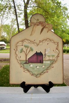 Primitive Grapevine Heart Saltbox Wood by Primgal on Etsy