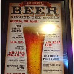 How to order a beer on different languages