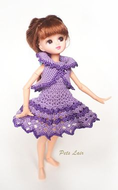 This is a #outfit for #Pullip, #Blythe, #Momoko, #Obitsu, #Azone #pure #neemo  L / M / S, #Monster #High / Ever #After High, ... and same dolls 1/6 doll. #bjd #doll #doll #Petslair #dress #Dolloutfit #dressDoll
