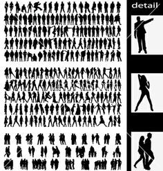 People silhouettes vector 13185 - by kamphi on VectorStock®
