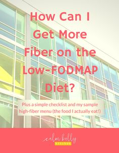 Nutrition - Healthy Eating : How can I get more fiber on the low fodmap diet? It doesn't need to be diffi. - All Fitness Low Fiber Diet, Fiber Rich Foods, High Fiber Foods, Fodmap Recipes, Fodmap Foods, Diet Recipes, Gaps Diet, Low Fodmap, Ibs