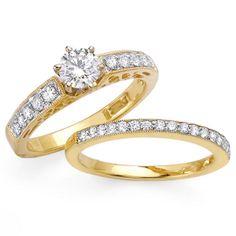 14k yellow gold ladies diamond ring 105ct - Picture Of Wedding Rings
