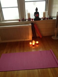 I would so love to have just a small yoga area in my house one day.