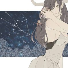 Taurus - they think deeply and don't say much because they don't know how. So when they do talk and try and open up to you listen carefully. Anime Zodiac, Zodiac Art, Zodiac Signs, Art Zodiaque, Character Art, Character Design, Anime Galaxy, Estilo Anime, Les Sentiments