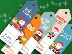 Holiday From Santa Gift Tags Printable