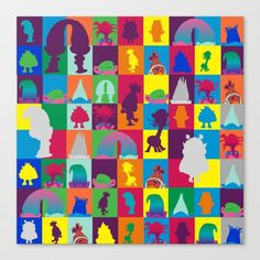 Trolls poppy mulitcolored rainbow pattern by studiomarshallarts