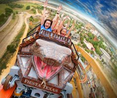 Iron Rattler at Six Flags Texas - The tallest and steepest hybrid roller coaster in the world!