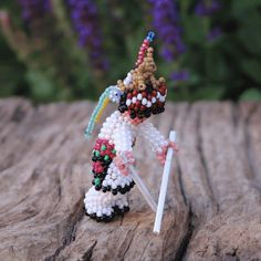 DEER DANCER BY FARLAN & ALESIA QUETAWKI ZUNI BEADWORK