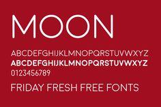 Friday Fresh Free Fonts - Poninet, Moon, Maxwell
