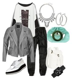 """shain!!!"" by carla1509 on Polyvore featuring Abercrombie & Fitch, Zara, Prada, maurices, Illesteva, M&Co, Leith, Tiffany & Co. and Bell & Ross"