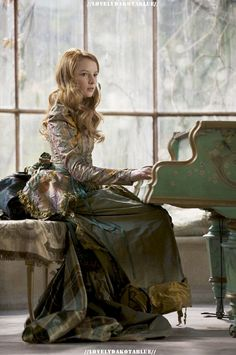 """(not really medieval) She looked up, startled. """"Oh, I did not intend to intrude. That was a lovely melody you were playing, Elizabeth."""""""
