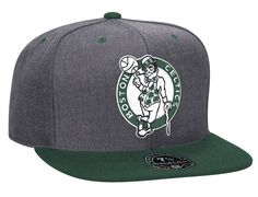 Boston Celtics Charcoal Dune High Crown Fitted Baseball Cap by MITCHELL & NESS x NBA