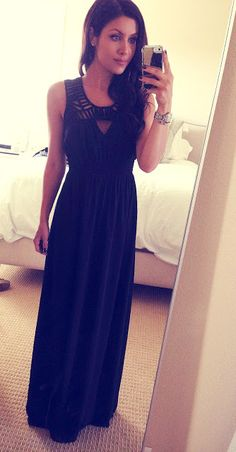 The HONEYBEE: Black long dress