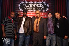 At Flappers Comedy Club in Burbank, CA.