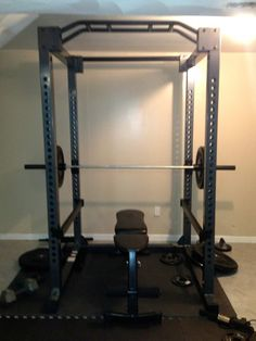 I haven't been doing the greatest with working out. We did buy a home gym yesterday (pictured above), which was SUPER expensive. I did not realize how much everything would be just so that W could lift some weights. The olympic bar alone was $320 (tax included) and that doesn't include any of the weights which were super expensive too ($150 for the two 45 pound weights).