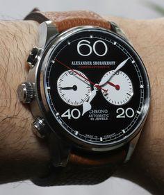 Alexander Shorokhoff Avantgarde Lefthanders Automatic Chronograph Watch Review   alexander shorokoff   $2,500