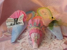 These paper shoes are created by me in the Marie Antoinette style which I love